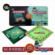 2 In 1 Scrabble + Monopoly Board Game - No.168