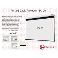 Ronald Jack Manual Wall Projector Screen 6' x 6'