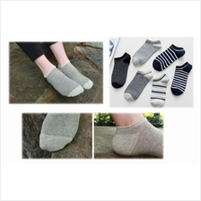 Men Simple Colors Short No Show Cotton Socks Anti Odour