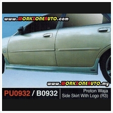 PU0932 Proton Waja PU Side Skirt With Logo (R3)