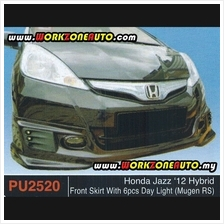 PU2520 Honda Jazz 2012 Hybird PU Front Skirt With 6pcs Day Light (Muge