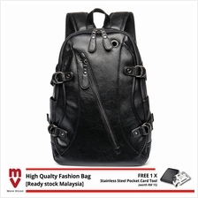 Leather Backpack Laptop Bag Light Weight Waterproof Travel Bag 174)