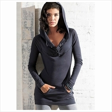 HOODED TOP DARK BLUE WT6933 (SIZE M)