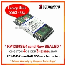KINGSTON 4GB DDR3-1333 LAPTOP / NOTEBOOK RAM Memory *SEALED