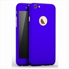 iPhone 7 360 Full Body Protection Case + Tempered Glass - Blue
