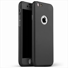 iPhone 7 360 Full Body Protection Case + Tempered Glass - Black