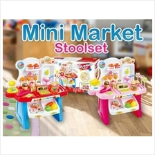 Children Portable Mini Market Toy Play Set Playset