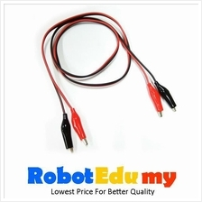 Electronic Component - Crocodile clip with wire (1 meter)