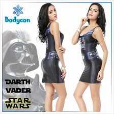 STAR WARS Darth Vader Halloween Cosplay Bodycon Mini Dress (Free Size)
