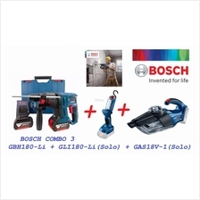 Bosch 18V Combo Rotary Hammer & Vacuum Cleaner & LED WorkLight