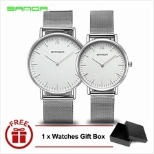 Original SANDA 208 Luxury Ultra Thin Stainless Steel Quartz Watch SIWH