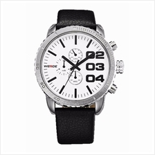 Weide WH3310 Men's Military Leather Watch (White)