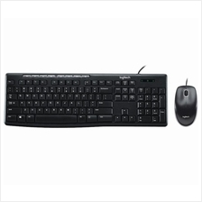 LOGITECH MK200 USB KEYBOARD MOUSE WIRED DESKTOP COMBO (920-002693)