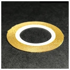 1 roll 1mm wide GOLD Striping Tape Glitter Nail Art Manicure