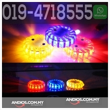 6pc Rechargeable Emergency LED Road Warning Light w/ Case