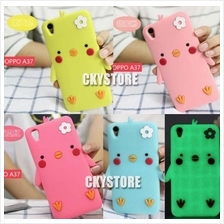 OPPO Neo 9 A37 Glow In Dark Cute Chick Antidrop TPU Case with Strap