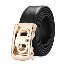 DOULILU Men Leather Automatic Buckle Waist Belt Tali Pinggang 195