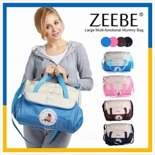 ZEEBE 2 in 1 Mummy Shoulder Diaper Bag with Waterproof Baby Nappy