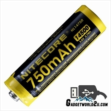 Nitecore 14500 750mAh 3.6V USB Rechargeable Li-ion Battery NL1475R