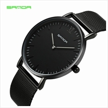 SANDA 208 Luxury Ultra Thin Stainless Steel Quartz Men Watch - FBK