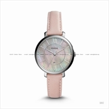 FOSSIL ES4151 Women's Jacqueline 3-hand Date Leather Strap Pink MOP