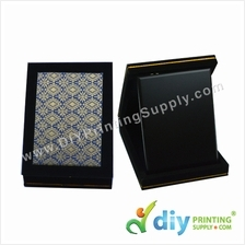 Velvet Box with Aluminium Board (Songket) (6 x 8) (Blue)