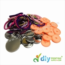 Button Badge Hair Band with Mylar (32mm) (50 ? pcs/pkt)
