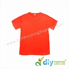Dryfit Tee (Round Neck) (Full Red) (XS) (160gsm)