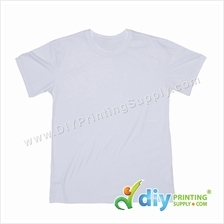 Sublimation Cotton Tee (Round Neck) (White) (L) (190gsm)