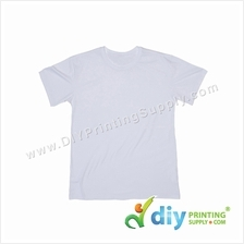 Sublimation Cotton Tee (Round Neck) (White) (XS) (190gsm)