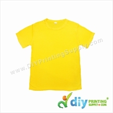 Dryfit Tee (Round Neck) (Full Yellow) (S) (160gsm)