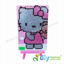 5D Rhinestone Drawing with Stand (15 x 10cm) (DIY) (Hello Kitty)