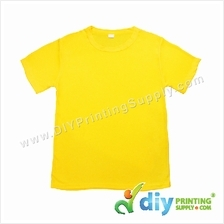 Dryfit Tee (Round Neck) (Full Yellow) (L) (160gsm)