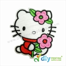 Garment Material (Hello Kitty) (75 x 84mm) [Flower]