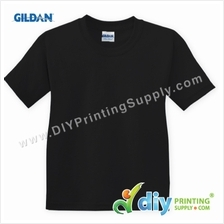 Gildan Cotton Tee (Round Neck) (Black) (XXXL) (180gsm)