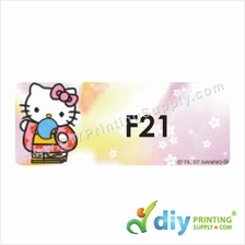 Name Sticker (Large) (500pcs) (5m) [Hello Kitty]