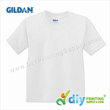 Gildan Cotton Tee (Round Neck) (White) (XL) (180gsm)