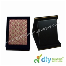 Velvet Box with Aluminium Board (Songket) (6 x 8) (Red)