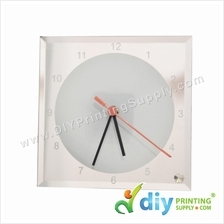 Glass Clock with Stand (Square) (A4)