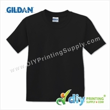 Gildan Cotton Tee (Round Neck) (Black) (S) (180gsm)