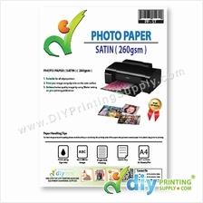 Photo Paper 260g (Satin) (4R) (20 sheets/pkt)