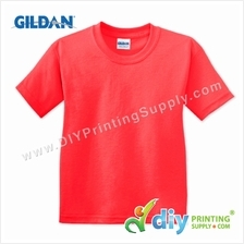 Gildan Cotton Tee (Round Neck) (Red) (L) (180gsm)