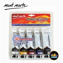 Mont Marte Paint Set - 3D Dimension Acrylic Paint Primary Colours (5 x