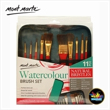 Mont Marte Mixed Natural Bristles Brush Set Wallet 11 PCE - Watercolou