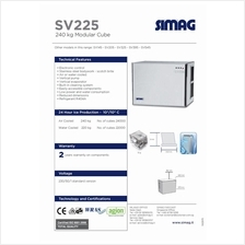 Industrial Ice Machine Simag SV225 181KGS 400LBS With Ice Storage Bin