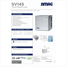 Industrial Ice Machine Simag SV145 154KGS 340LBS With Ice Storage Bin
