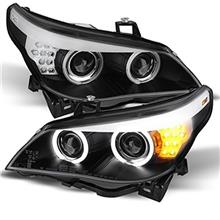 BMW E60 5-Series 2003-10 SONAR Double Projector Head Lamp *Black Base