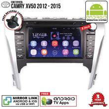 TOYOTA CAMRY XV50 2013-15 8' ANDROID Double Din GPS Mirror Link Player