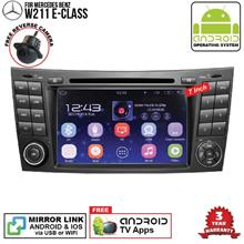 MERCEDES W211 E-Class 7' ANDROID Double Din GPS DVD Mirror Link Player