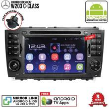 MERCEDES W203 C-Class 7' ANDROID Double Din GPS DVD Mirror Link Player